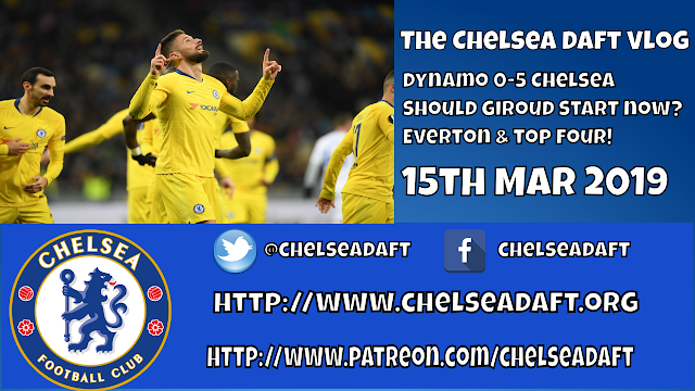 Dynamo Kiev 0-5 Chelsea | Should Giroud start now? | Everton and the top four.