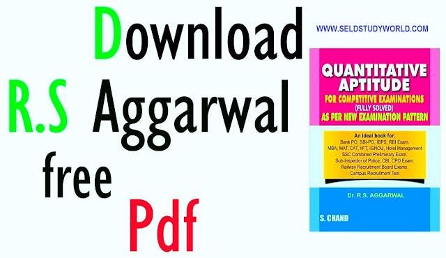 RS Agarwal Aptitude Book PDF Free Download