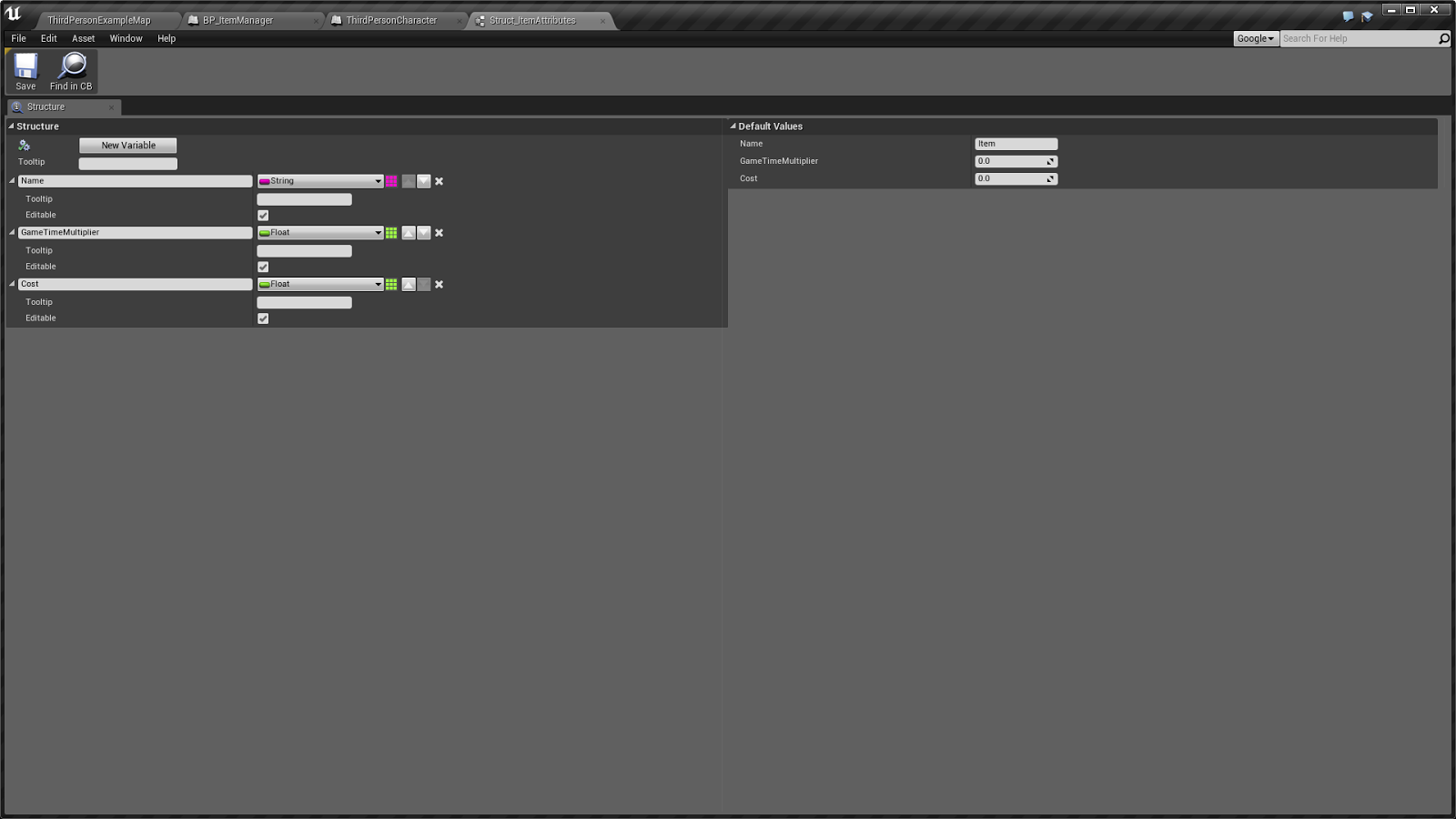 Unreal possibilities unreal engine tutorial how to use curves to now open the item manager blueprint create an array of type structitemattributes then give some default values to the different items for example malvernweather Image collections