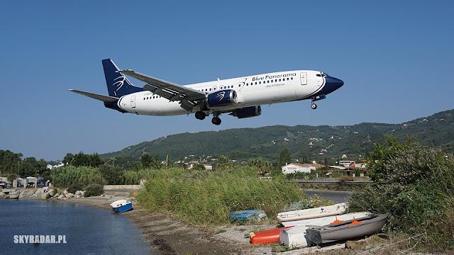Blue Panorama - Boeing 737 - I-BPAC