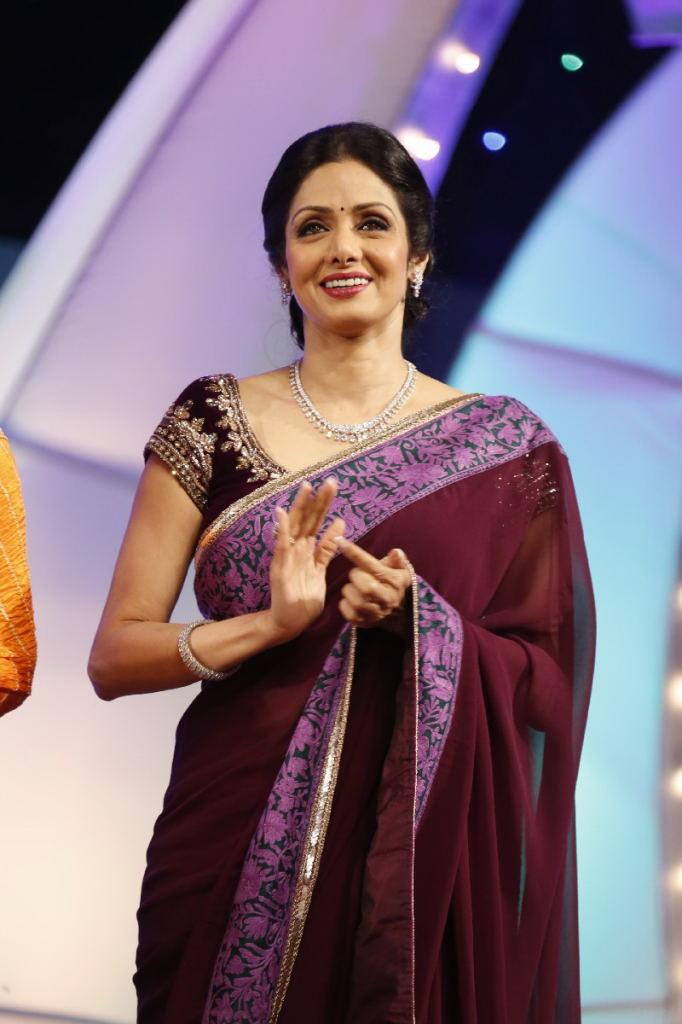 Sri Devi Latest Stills In Maroon Saree