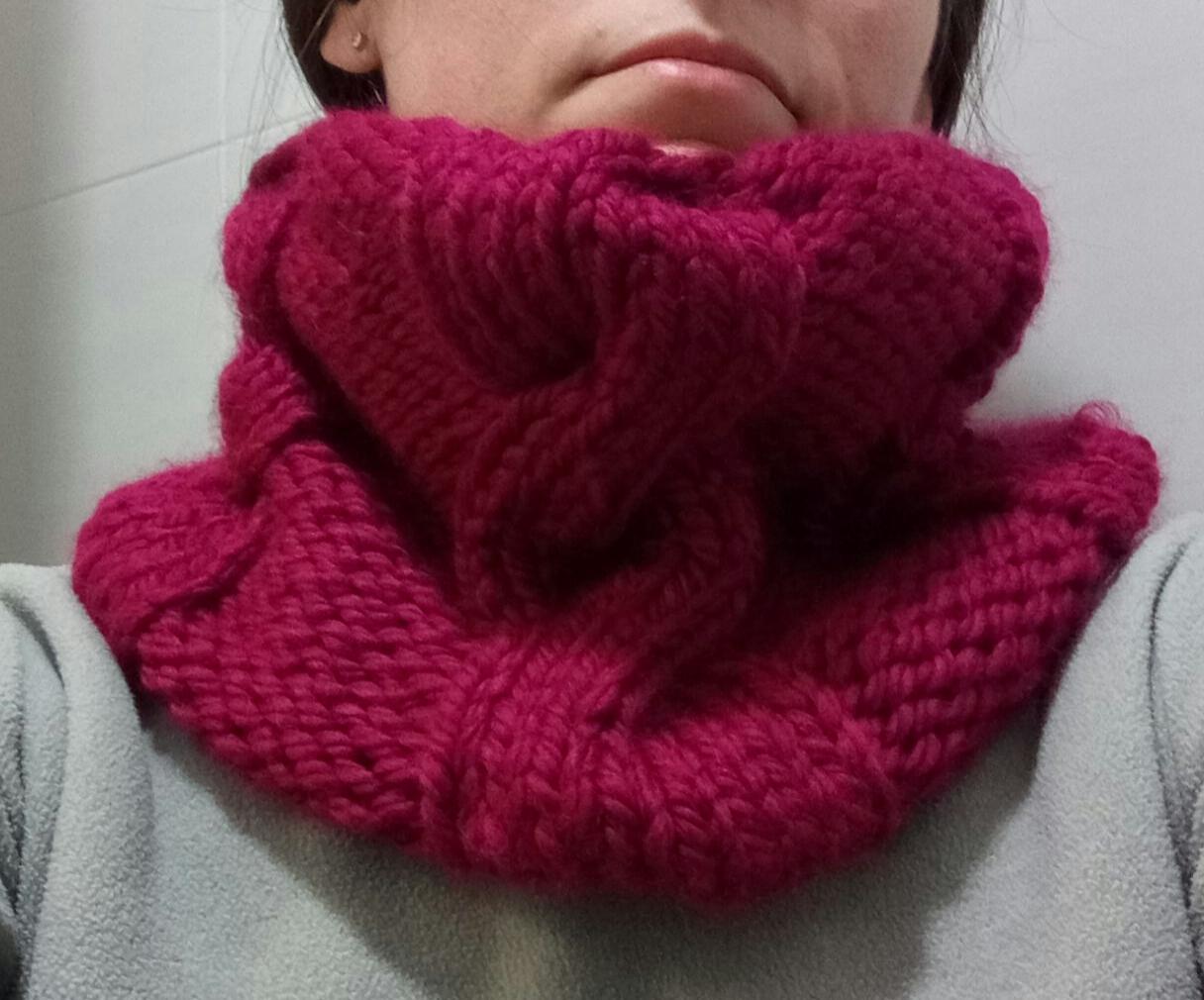 Punto a punto cuello de lana con punto de dos agujas y - Puntos de lana ...