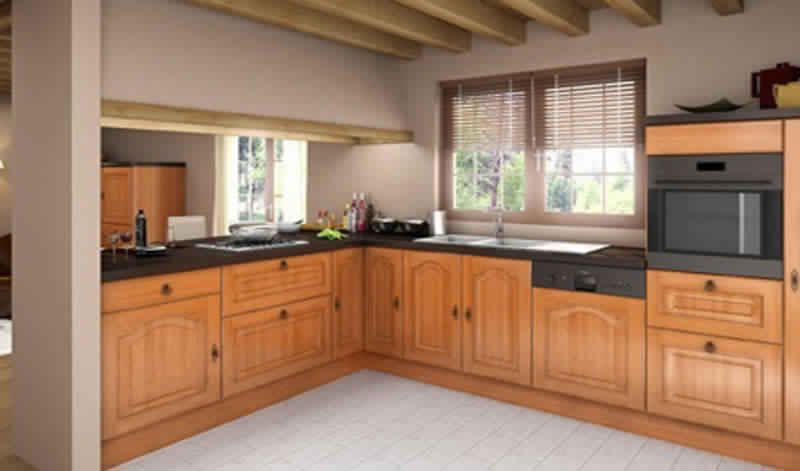 meuble de cuisine bois. Black Bedroom Furniture Sets. Home Design Ideas