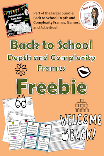 Make the first week of school a breeze with this FREEBIE by incorporating the prompts of Depth and Complexity to discuss classroom rules, procedures, and behavior!  This is not just for GATE students; it's for ALL students!