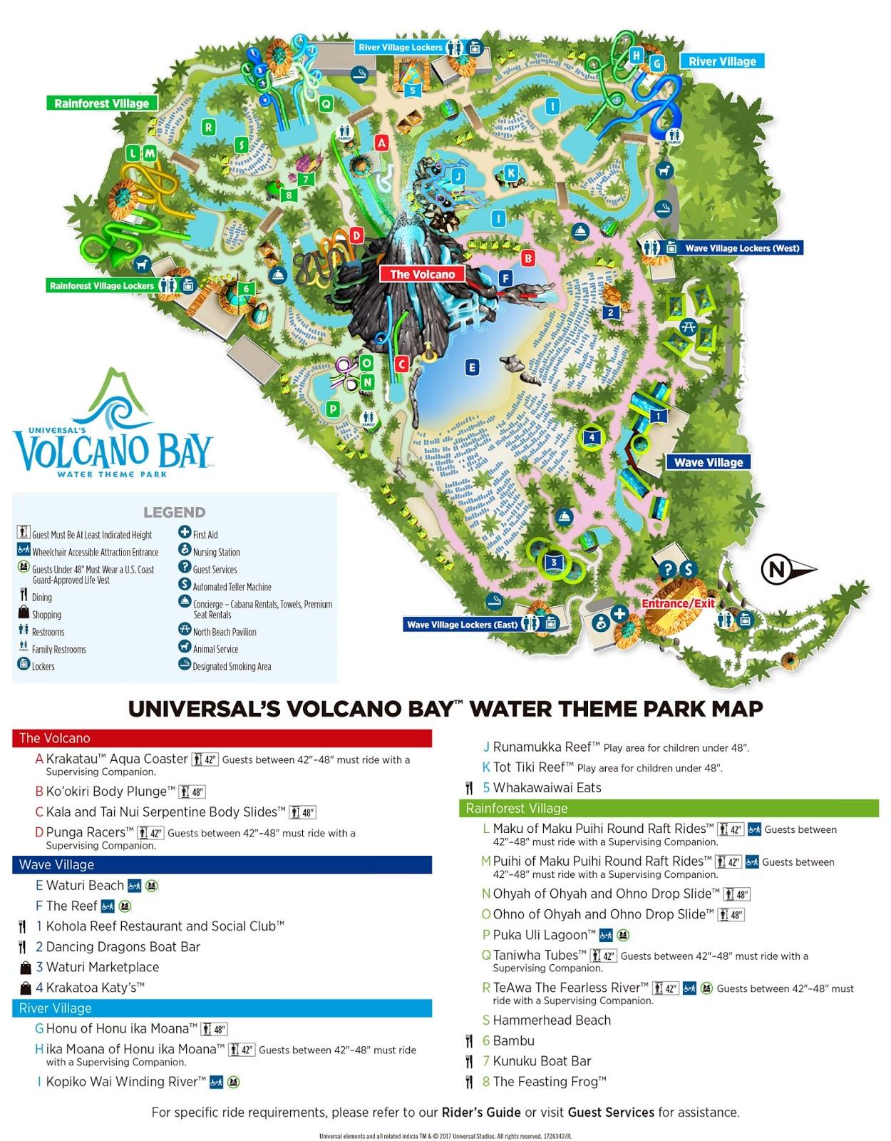 Mapa Volcano Bay