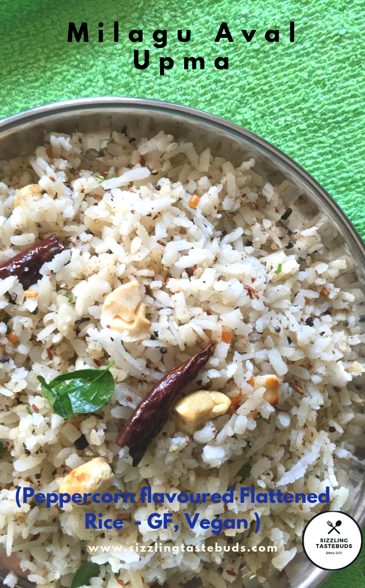 Sizzling Tastebuds: Milagu Aval Upma | Pepper flavoured Poha