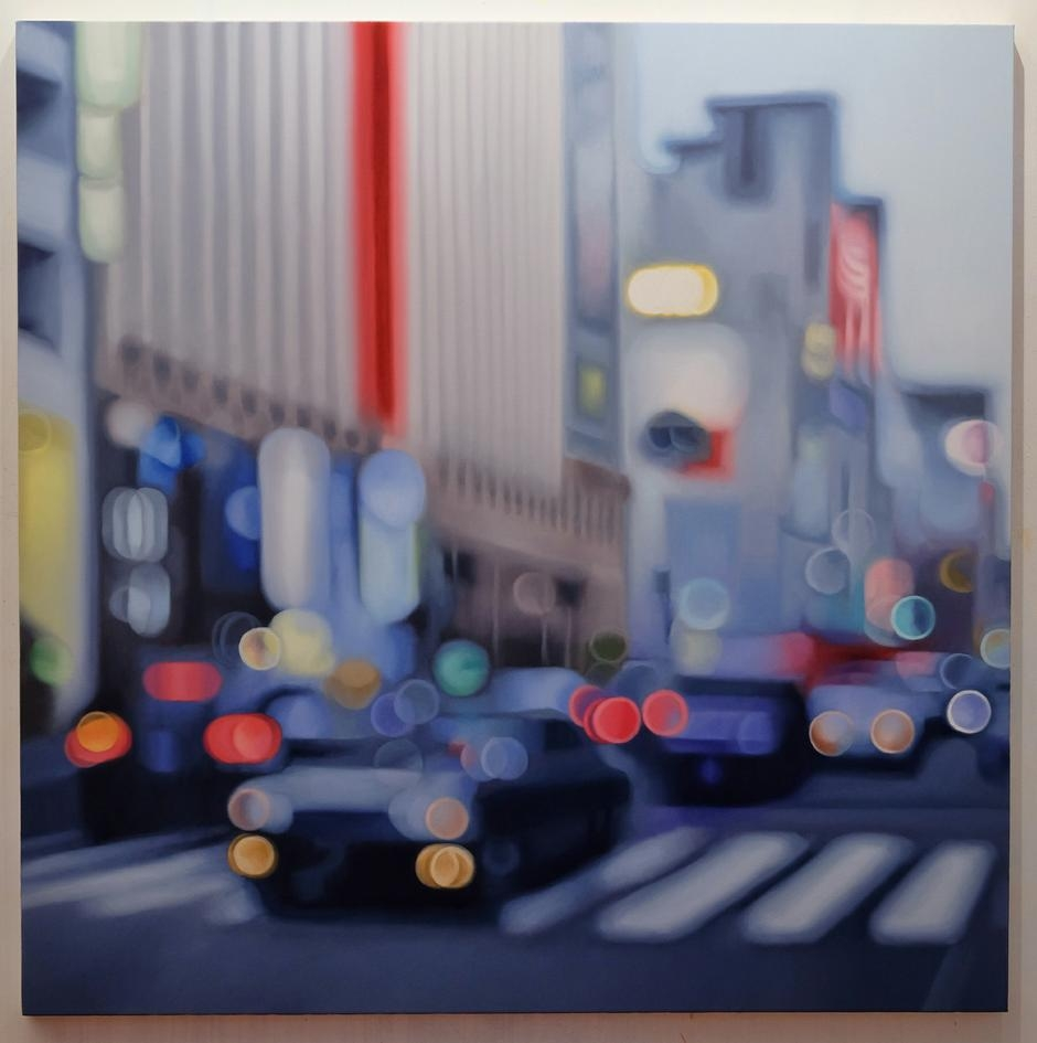 05-Dusk-on-Ginza-Return-in-Studio-Philip-Barlow-No-Need-to-adjust-your-Screen-Paintings-out-of-Focus-www-designstack-co