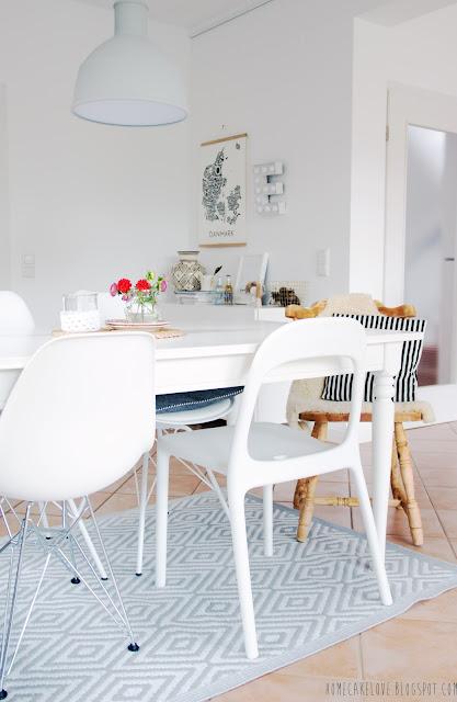 upcyling, aus alt mach neu, alt mit neu kombinieren, diy,vintage, mix and match, alter Stuhl mit modernem kombinieren, Esszimmer, livingroom, Ikeatisch mit verschieden Stühlen