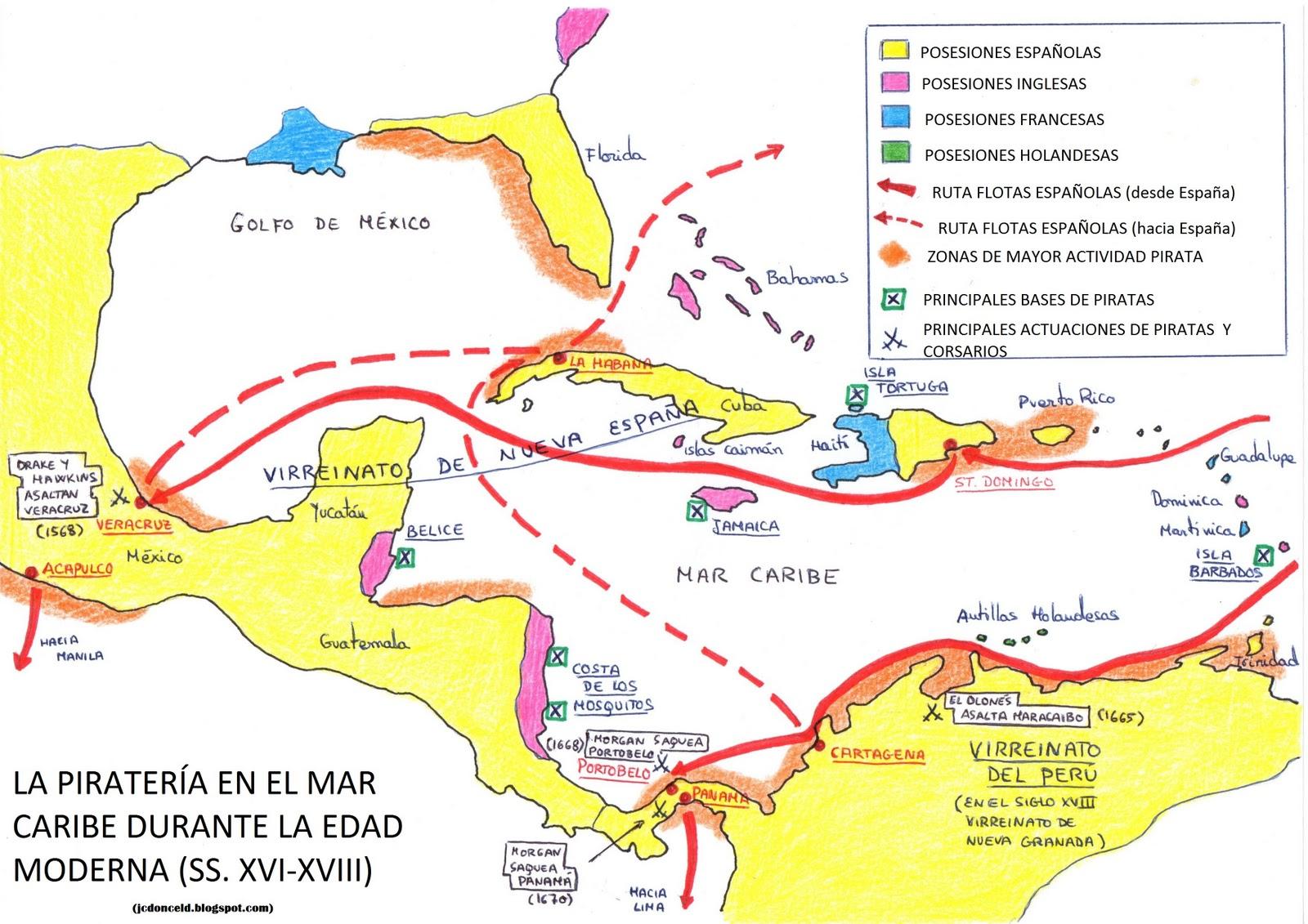 Historia 21 La Piratera en el Mar Caribe y en el Atlntico