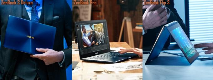 ASUS ZenBook Flip UX370, ZenBook 3 Deluxe dan ZenBook Pro