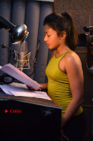 Actress Catherine Tresa Pos during Self Dubbing for Gautham Nanda Movie  0054.JPG