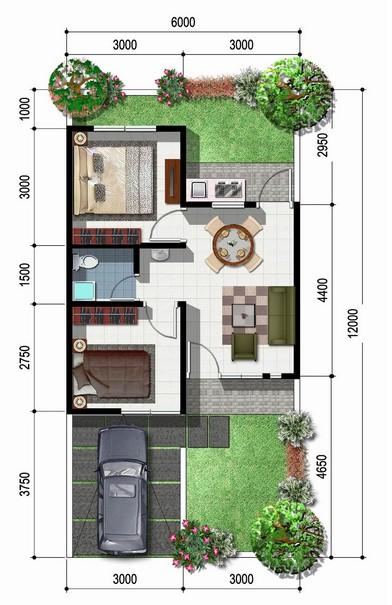 Tipe Rumah Ukuran 8x15 Meter Persegi