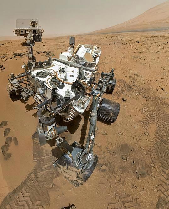robot Curiosity en Marte
