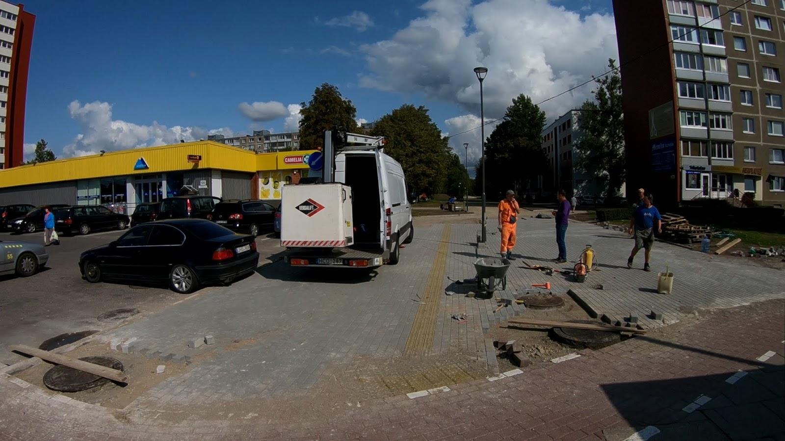 Реонавация пешеходной дорожки в районе магазина Егле