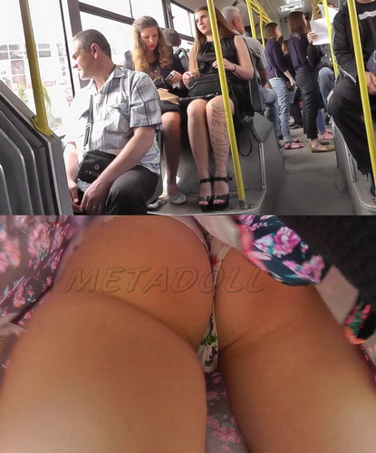 Voyeur upskirt shot in public bus. Subway Upskirt Sexy Girls (100Upskirt 4300-4384)