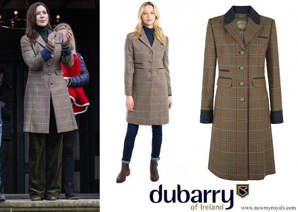 Crown Princess Mary wore Dubarry Blackthorn tweed coat