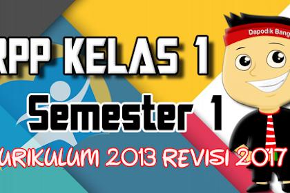 RPP KELAS 1 Semester 1 K13 Revisi 2017