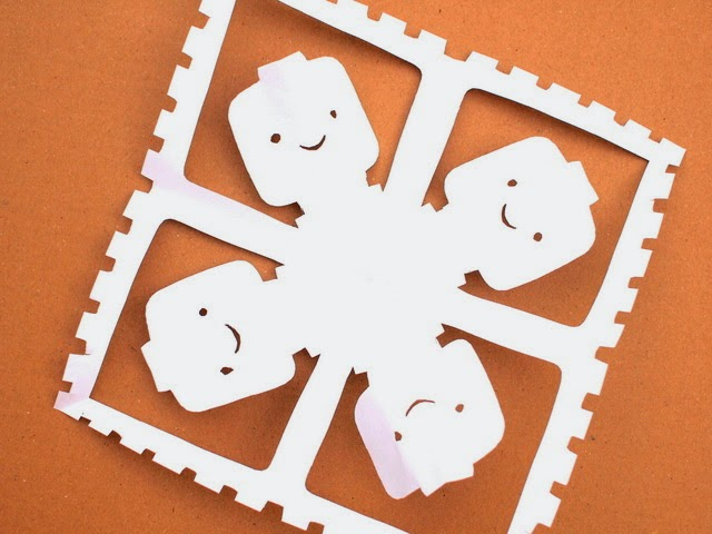 how to cut lego face snowflakes
