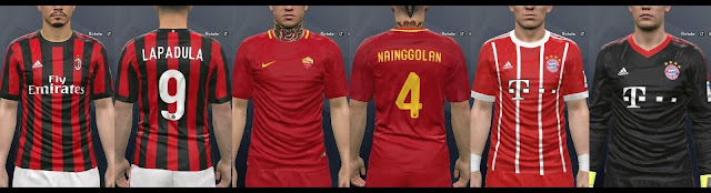 PES 2017 Kit Pack Update 2017-18 (Fonts   Numbers Fix) 4f5d3694e
