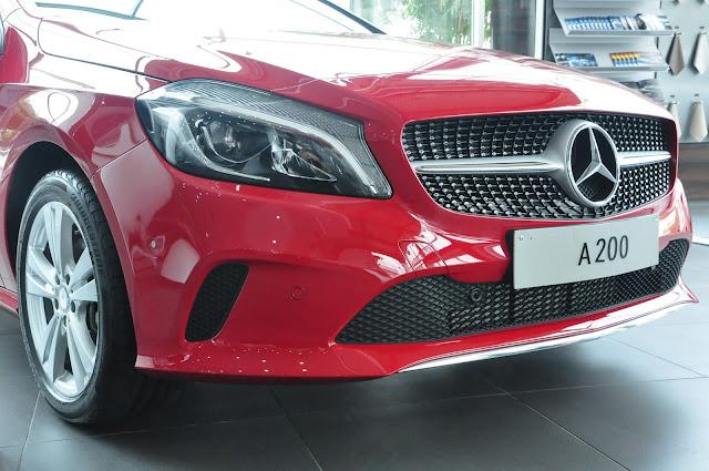 Mercedes A200 2017 được thiết kế giống như viên đạn lao về phía trước.