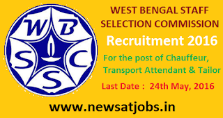 wbssc+recruitment+2016+for+the+post+of+chauffeur+transport+attendent+and+tailor