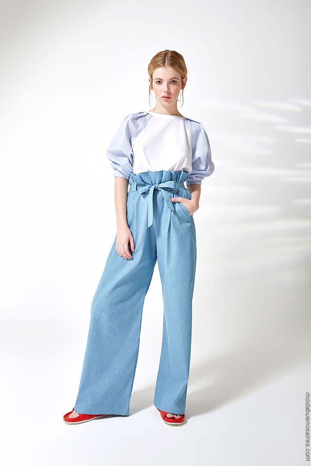 Pantalones primavera verano 2019. Ropa de moda para mujer 2019.