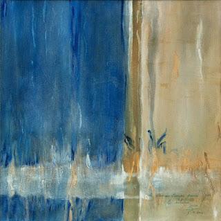 35 - Le secret du temps passe par le silence - © Edith Smets - 50/50 - huile sur toile