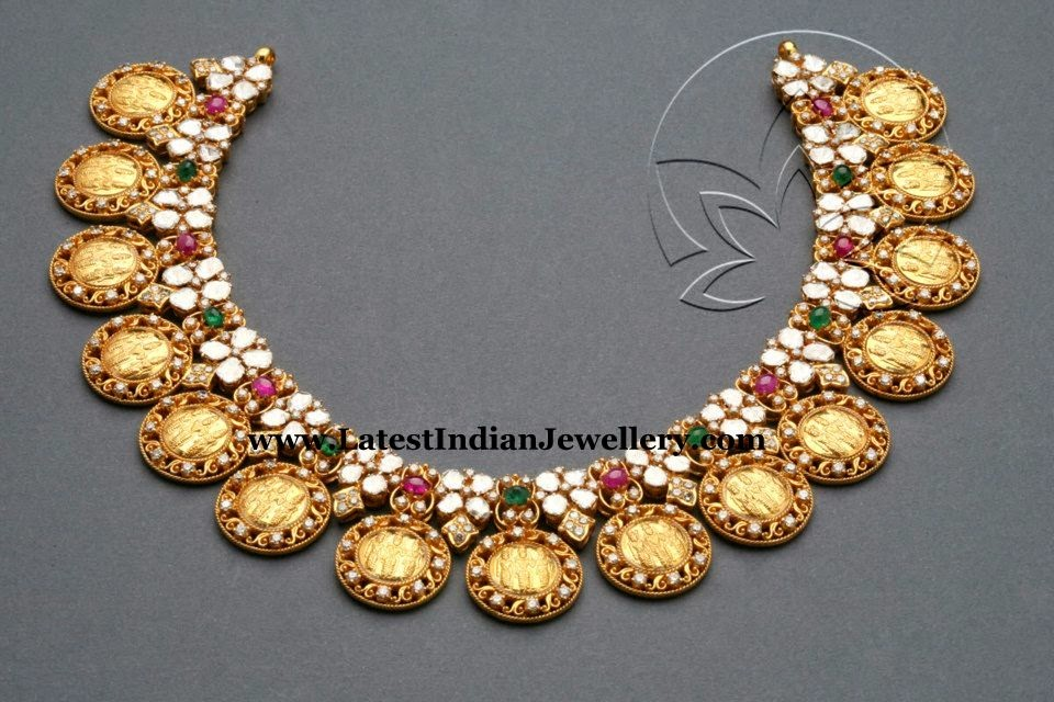 Ram Sita Gold Kasu Necklace