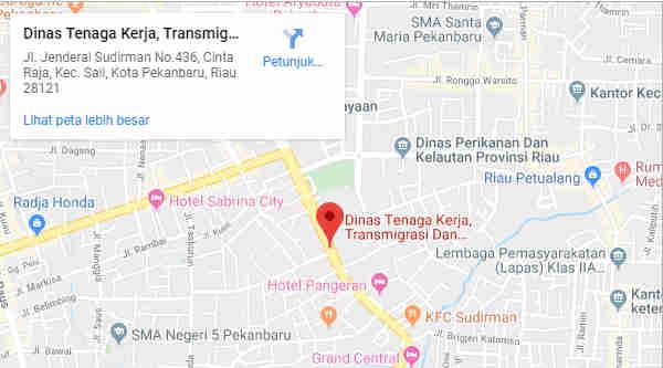 Alamat Telepon Dinas Tenaga Kerja, Transmigrasi Dan Kependudukan Prov Riau