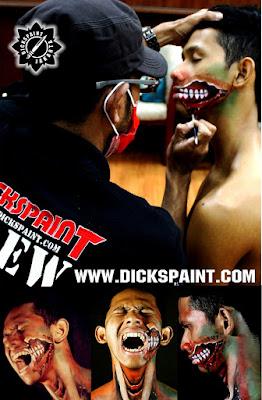 face painting zombie jakarta