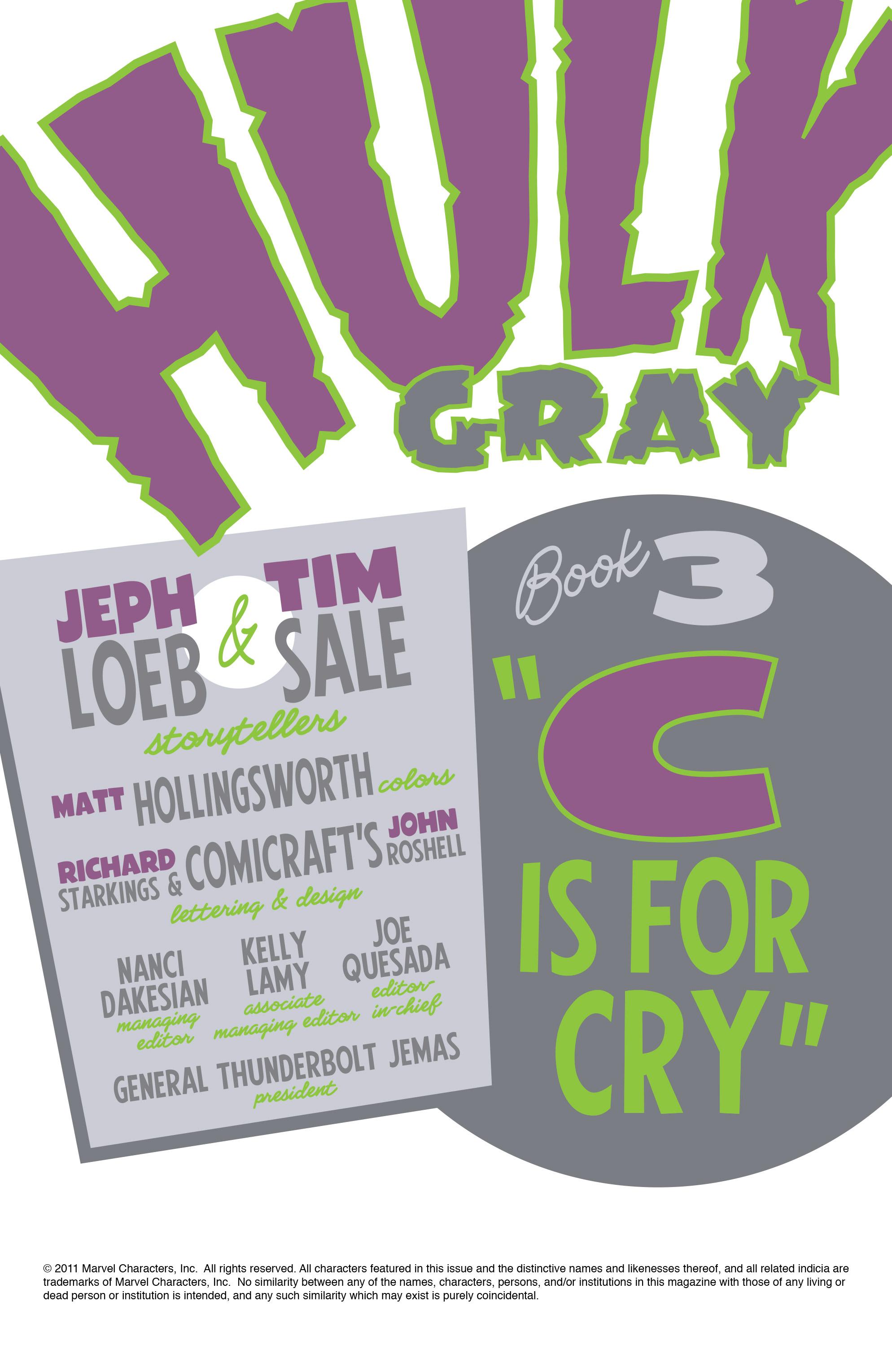 Read online Hulk: Gray comic -  Issue #3 - 2