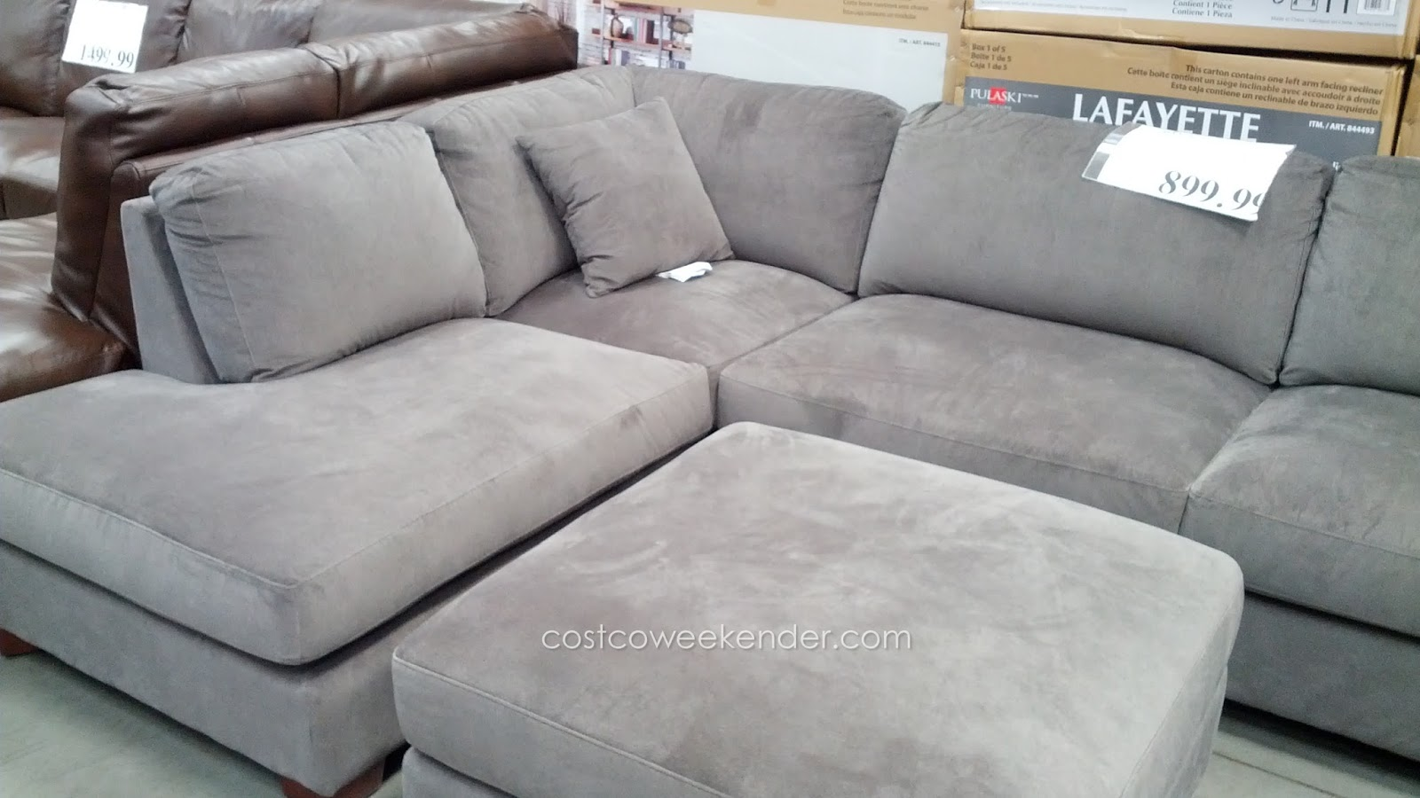 Relax In Comfort On The Emerald Home Bianca 3 Piece Sectional Set