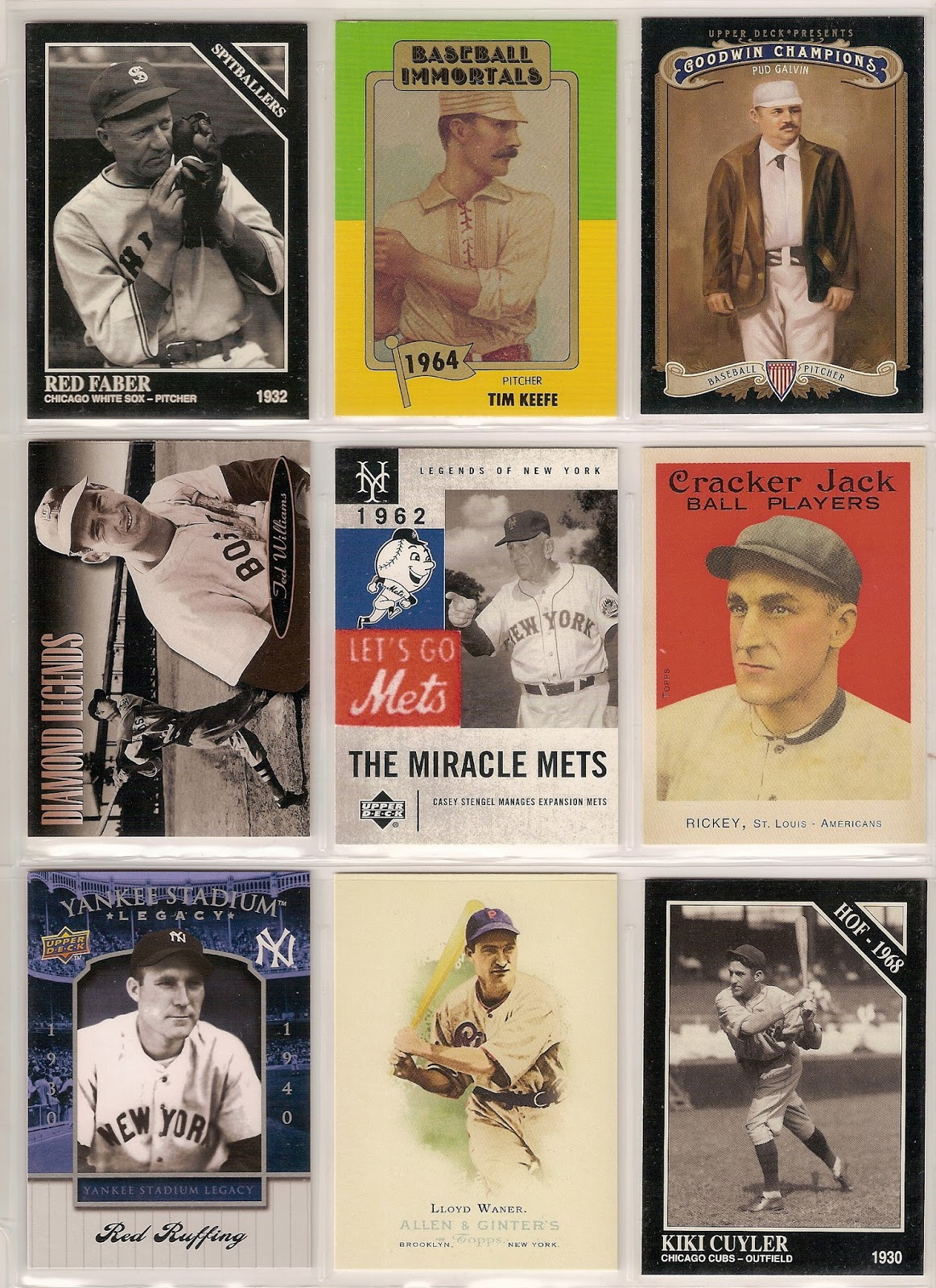 red cardboard hall of fame binder 1969 roy campanella 1969 stan coveleski 1970 lou boudreau 1970 earle combs 1970 ford frick