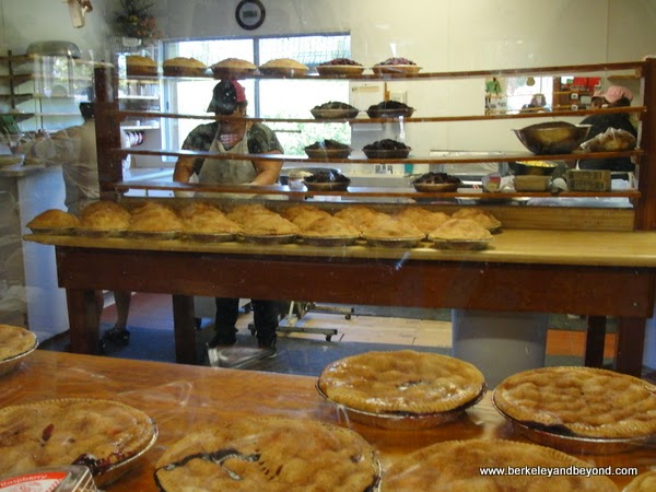 pie shop at Machado Orchards in Auburn, California