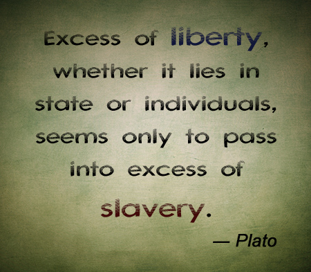 Plato Quotes More freedom is more slavery