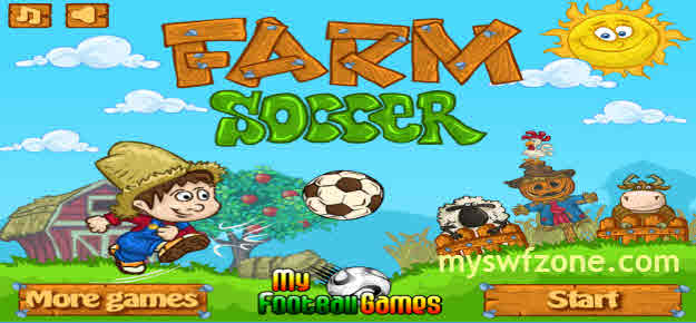 Game SWF Flash Farm Soccer, Farm Football