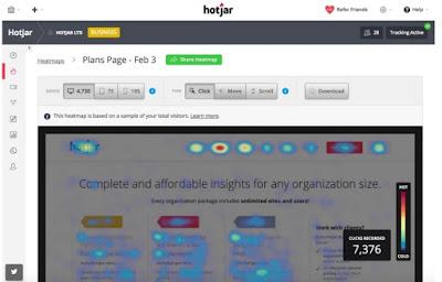 hotjar website screenshot