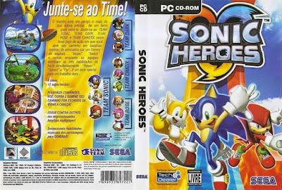 Jogo Sonic Heroes PC DVD Capa