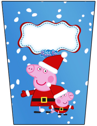 Peppa Pig in Christmas: Free Printable Candy Bar Labels ...