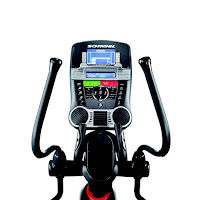 2013 Schwinn 470 console, with Dual Track blue backlit LCD screens, image