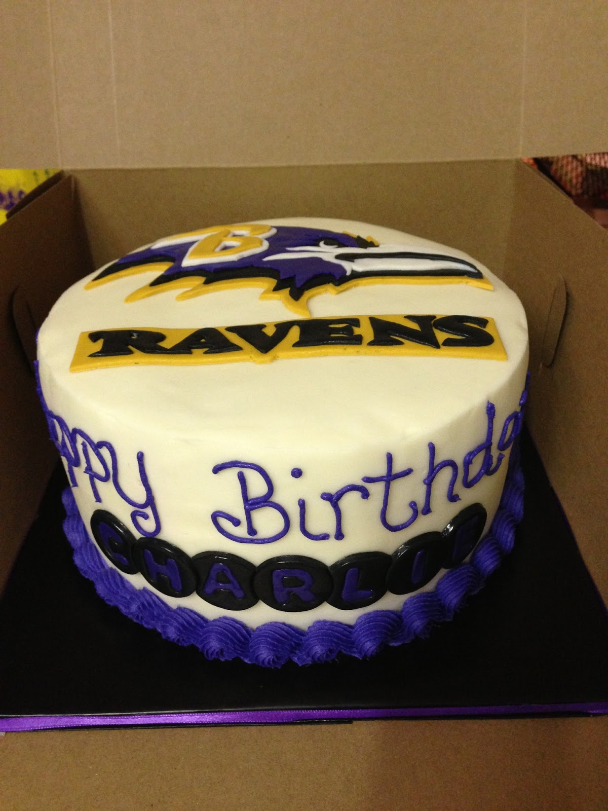 Cakes By Mindy Baltimore Ravens Cake 8 Quot