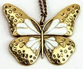 Image: Generic Retro Long Chain Butterfly Pendant Necklace