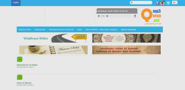 Website Quran Audio Library