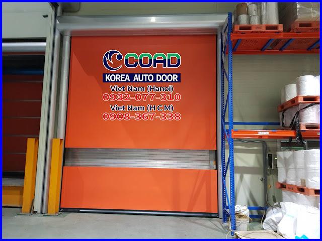 Cửa cuốn nhanh, cửa đóng mở nhanh, cửa cuốn tốc độ cao, cửa cuốn công nghiệp, COAD