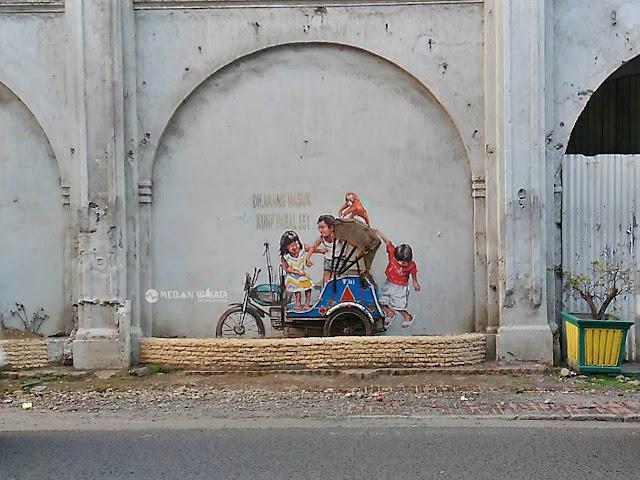Seni Mural Kota Medan Bertema Lingkungan