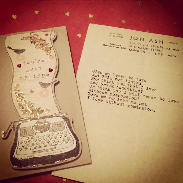 Valentine's poem from Mr Nash