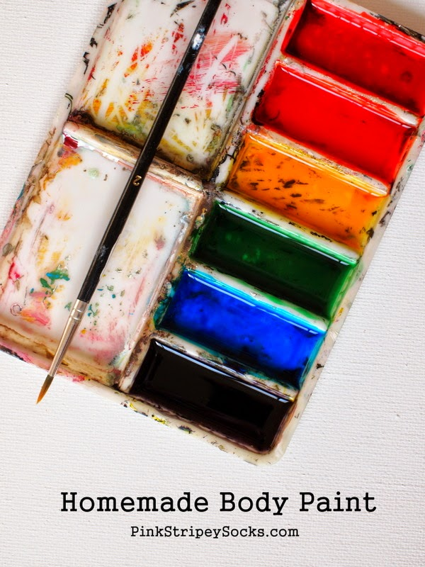 super easy 2 ingredient homemade body paint