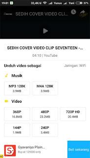 Cara Mendownload Lagu atau Musik dan Video di Youtube Menggunakan Smartphone Android