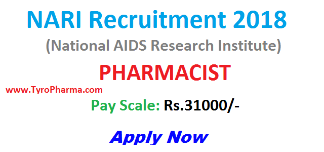NARI Recruitment 2019 – Pharmacist Government Job in NARI | NARI Pharmacist Recruitment: