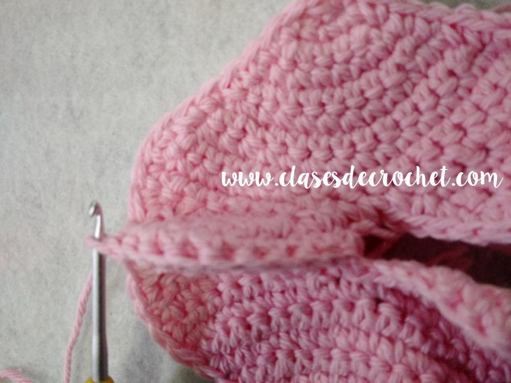 Crochet: Corazón en filas, paso a paso
